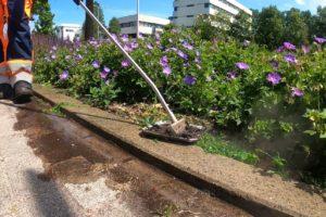 Waterkracht perkschoffel lans heet water onkruidbestrijding
